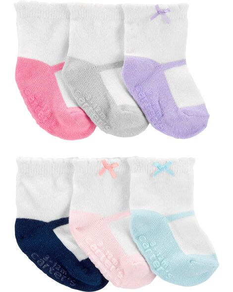 6 paires de chaussettes de style demi-pointe