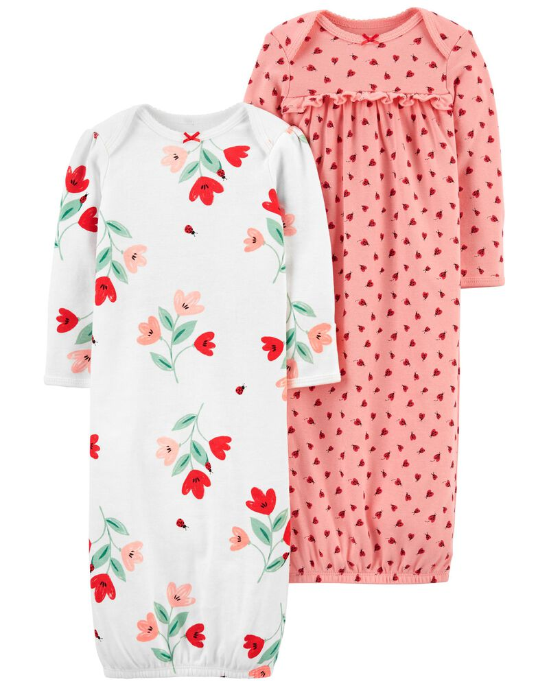 2-Pack Nightgowns, , hi-res