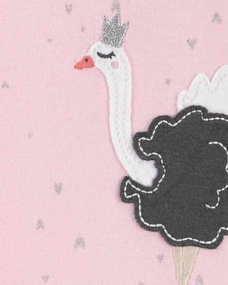 1-Piece Swan Ballerina Snug Fit Cotton Footie PJs