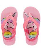Unicorn Flip Flops, , hi-res