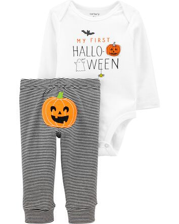 2-Piece Halloween Pumpkin Bodysuit...