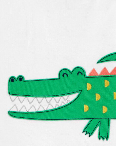 4-Piece Alligator Snug Fit Cotton PJs