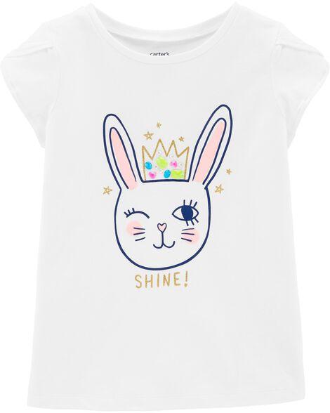 Glitter Bunny Jersey Tee