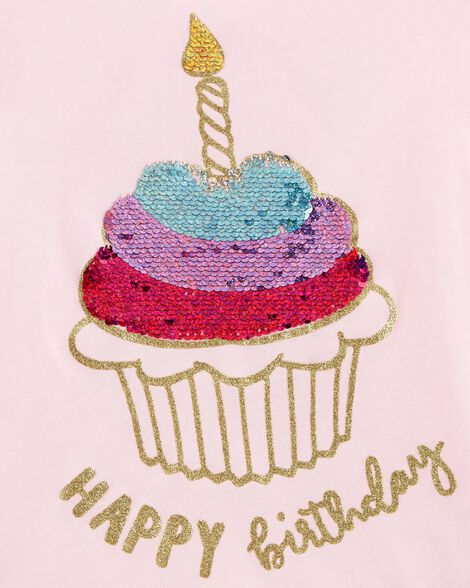 Flip Sequin Birthday Tee