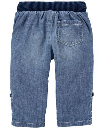 Pull-on Convertible Chambray Pants
