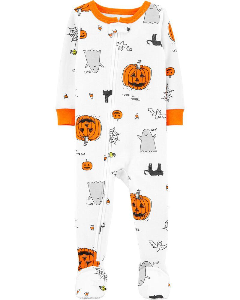 1-Piece Halloween Snug Fit Cotton Footie PJs, , hi-res