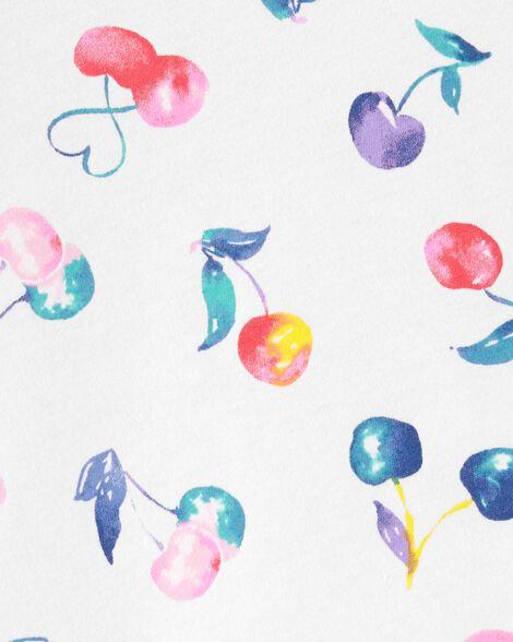 Peplum Hem Cherries Top