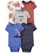 5-Pack Short-Sleeve Bodysuits, , hi-res