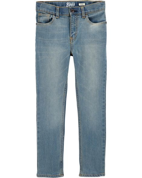 Jeans fuseau - délavage léger régulier