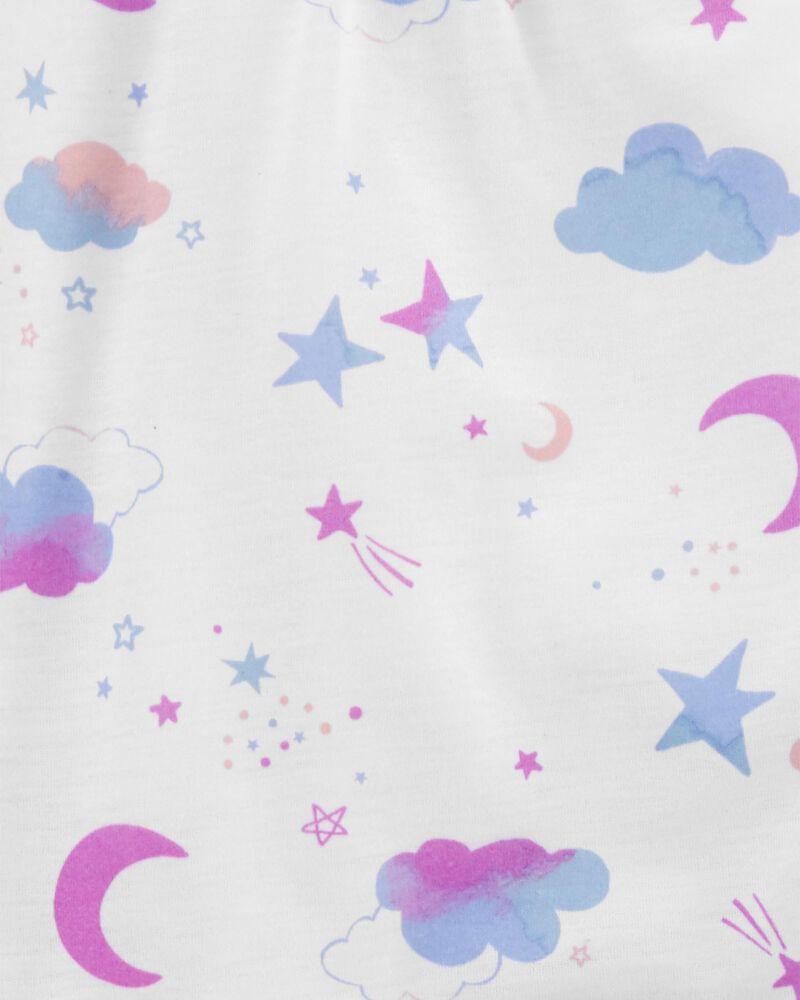 3-Piece Moon & Stars Loose Fit PJs, , hi-res