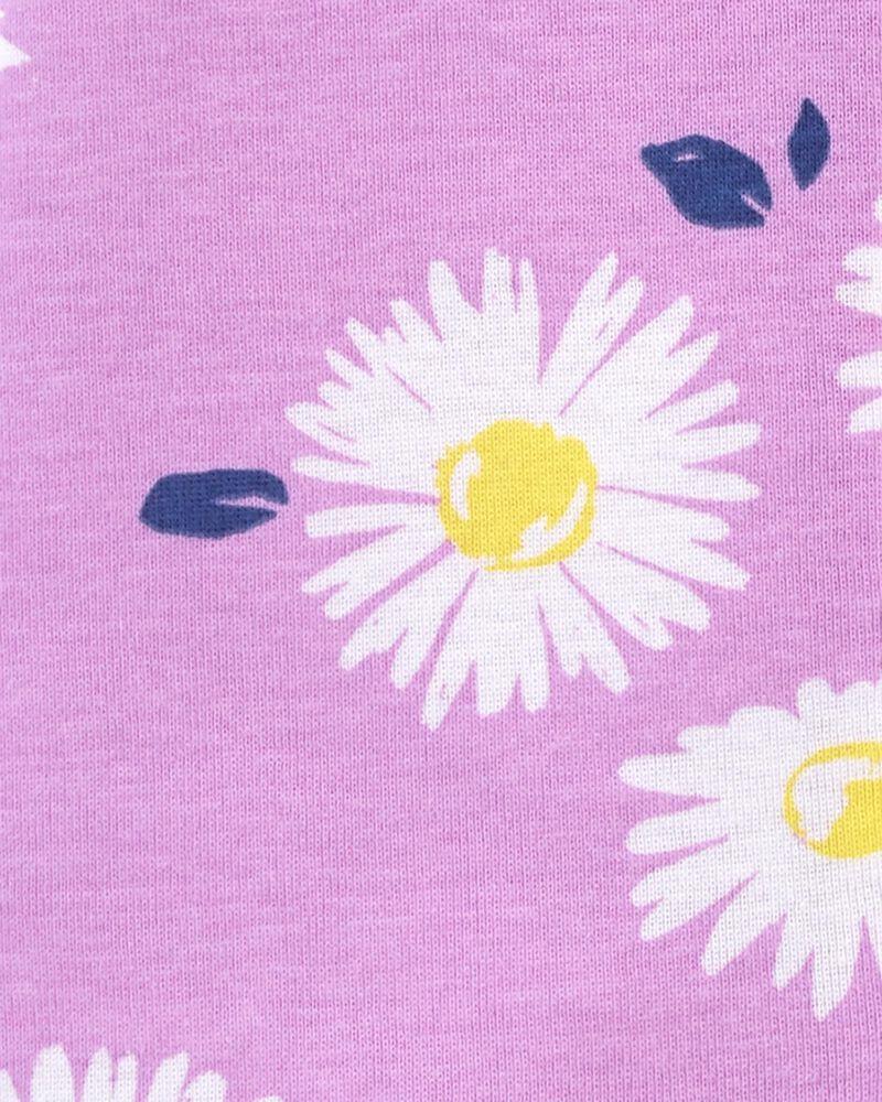 Pyjama barboteuse 1 pièce en coton ajusté à motif de marguerite, , hi-res