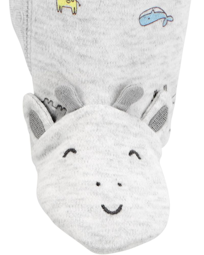 Hedgehog Snap-Up Cotton Sleep & Play, , hi-res