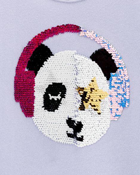 Chandail à panda avec paillettes réversibles
