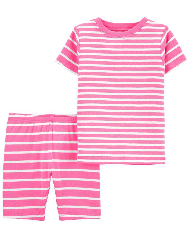 Emballage 2 pyjamas en coton ajusté rayé, , hi-res