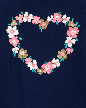 Floral Heart Jersey Tee