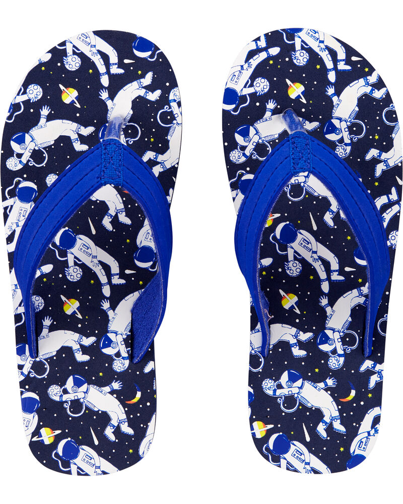 Space Walk Flip Flops, , hi-res