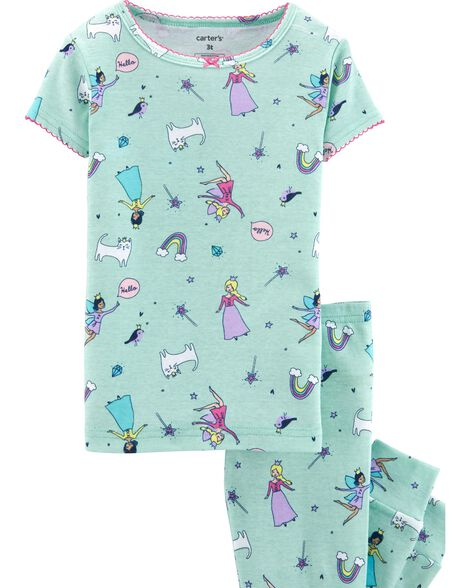 4-Piece Fairy Snug Fit Cotton PJs
