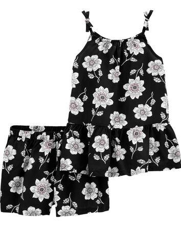 2-Piece Floral Outfit Set
