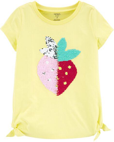 Flip Sequin Strawberry Jersey Top
