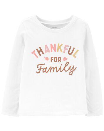 T-shirt en jersey Thankful For Fami...