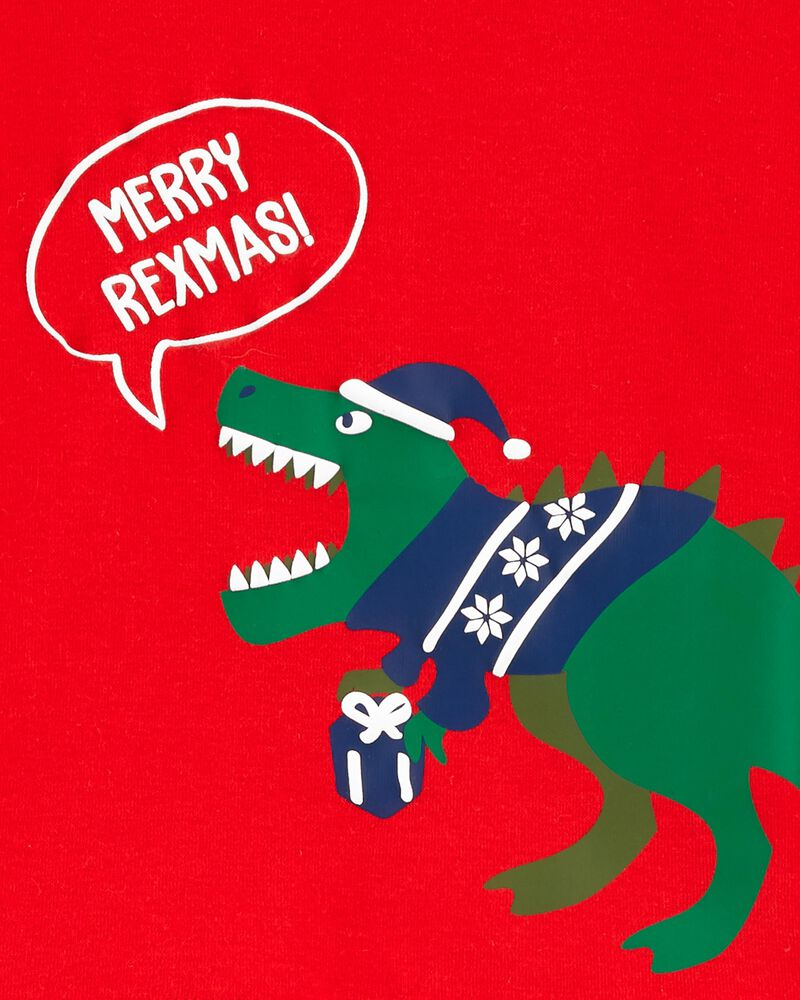 2-Piece Holiday Dinosaur Fleece PJs, , hi-res