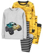 4-Piece Construction 100% Snug Fit Cotton PJs, , hi-res