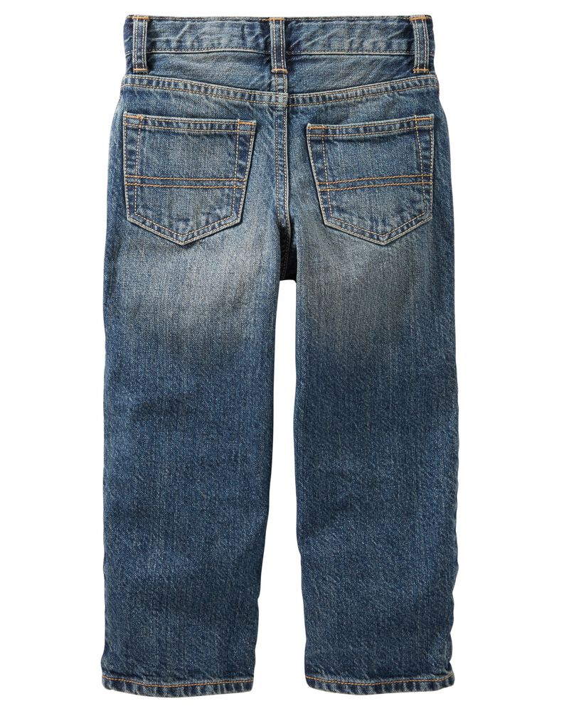 Classic Jeans -Slim Tumbled Medium Faded Wash, , hi-res