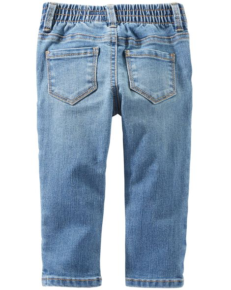 Jeans fuseau extensible - délavage bleu Upstate