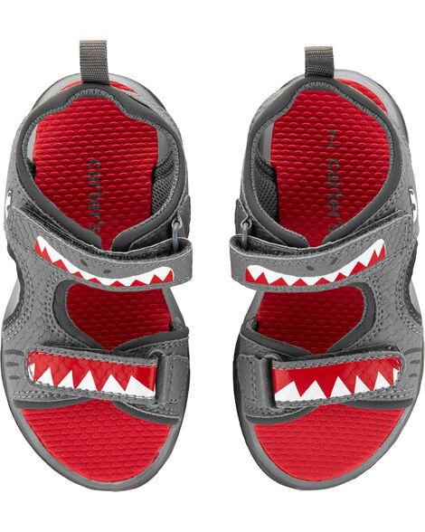 Sandales clignotantes à requin