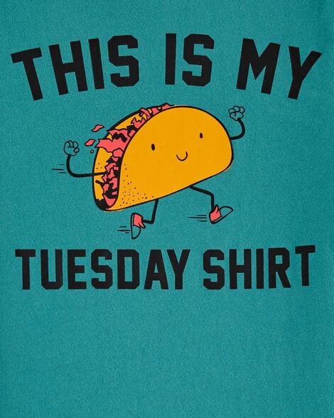 T-shirt en jersey Taco Tuesday
