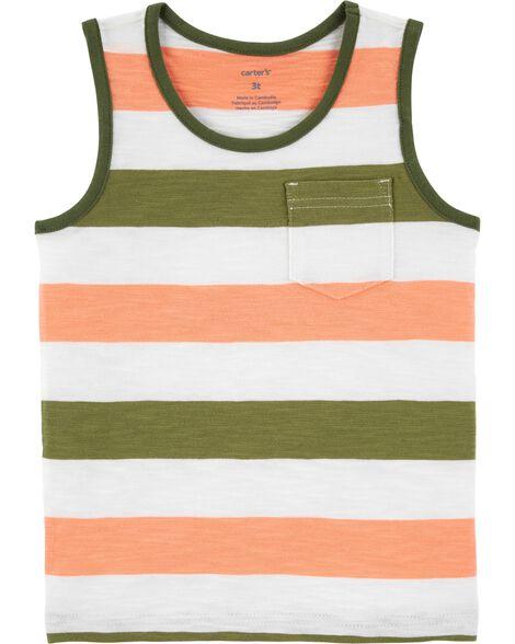 Striped Slub Jersey Tank