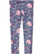 Floral Jersey Leggings, , hi-res