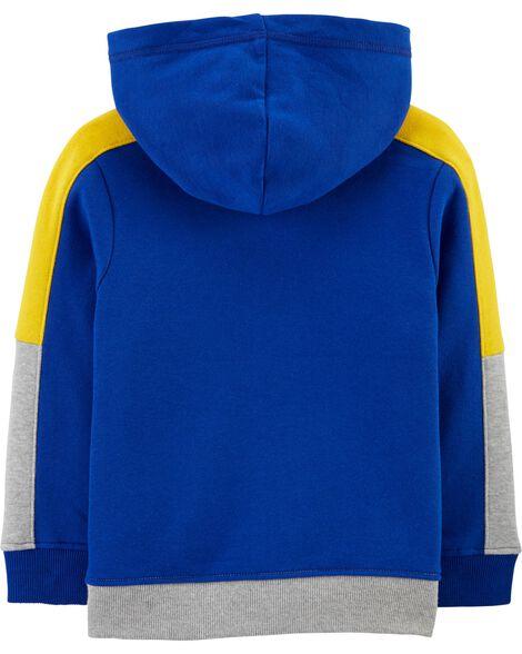 Colorblock Fleece Hoodie