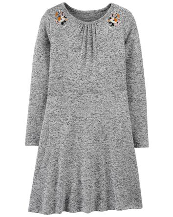 Embroidered Cozy Dress