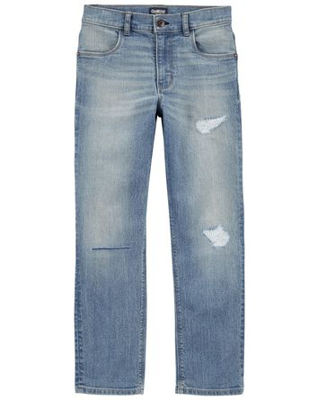 Tapered Relaxed Jeans in Natural In...