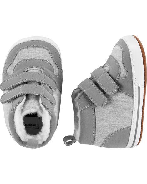 Chaussures souples à tiges hautes pour bébé