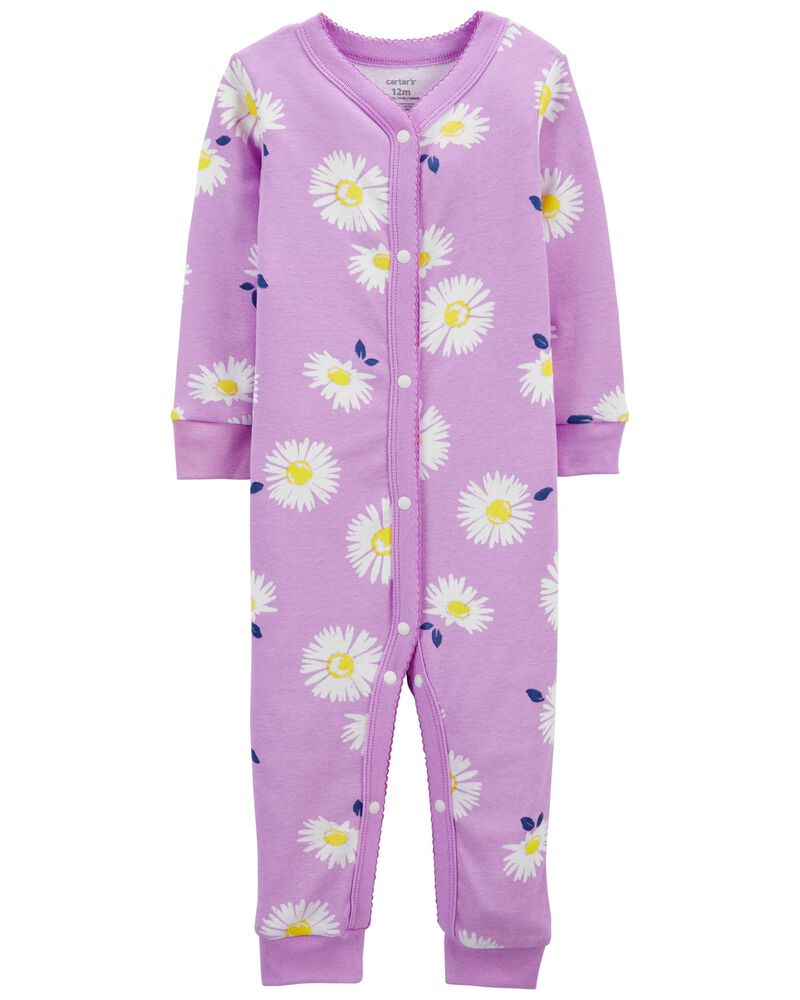1-Piece Daisy 100% Snug Fit Cotton Footless PJs, , hi-res