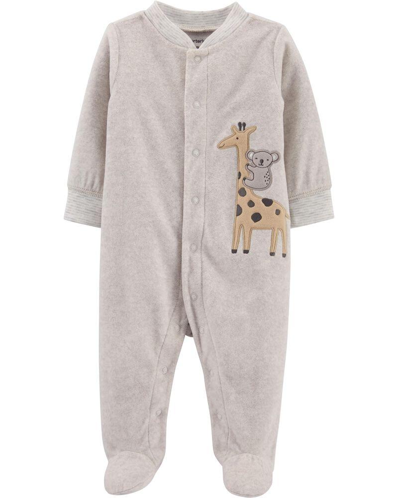 Giraffe Snap-Up Fleece Sleep & Play, , hi-res