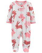Bunny 2-Way Zip Cotton Sleep & Play, , hi-res