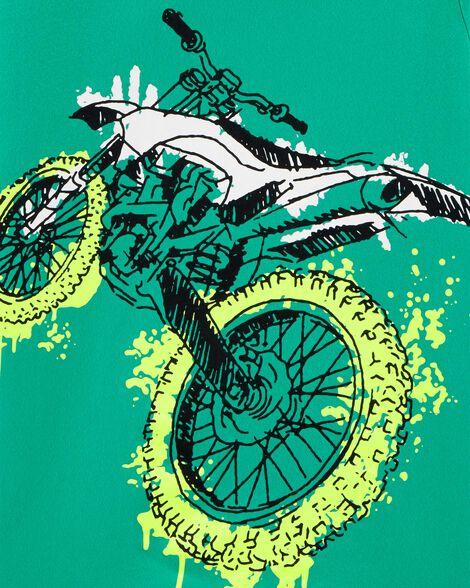 T-shirt à imprimé original motocross