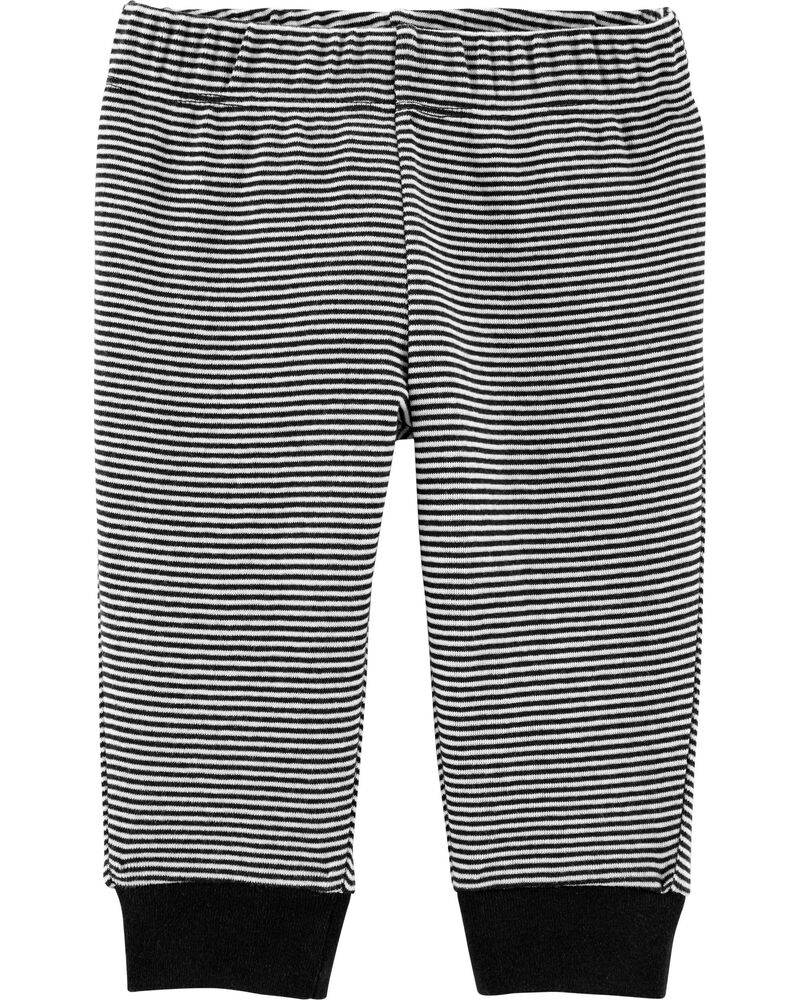 Striped Pull-On Pants, , hi-res