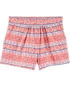 Floral Pom Pocket Pull-On Shorts, , hi-res