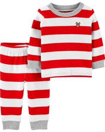 Pyjamas 2 pièces en coton ajusté