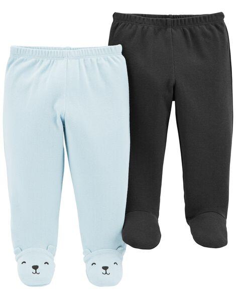 Emballage de 2 pantalons à pieds très doux