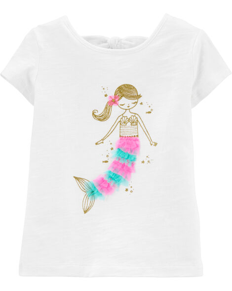 Glitter Mermaid Bow Back Tee