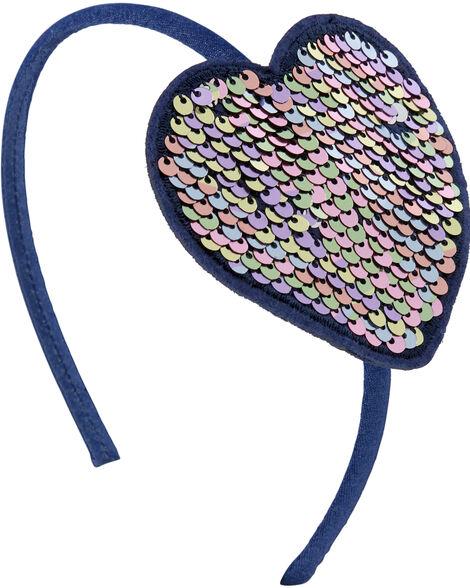 Bandeau à cœur en paillettes