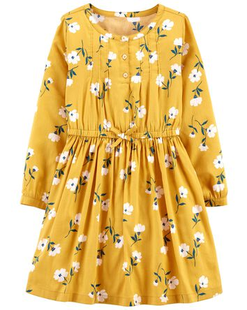 Robe en satinette fleurie