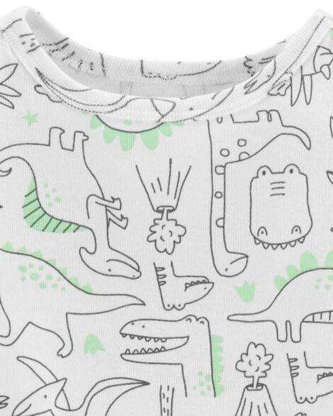 3-Piece Dinosaur Cardigan & Footed Pant Set