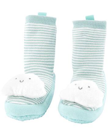 Chaussettes-pantoufles nuage