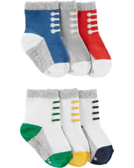 Emballage de 6 paires de chaussons espadrilles